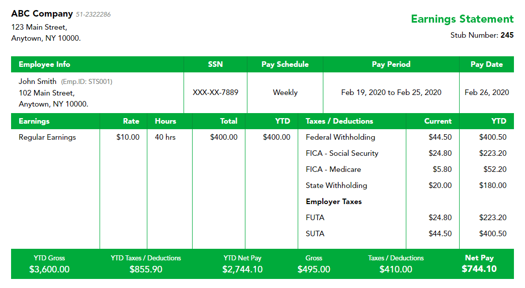 Free-Palmetto-paystub-template