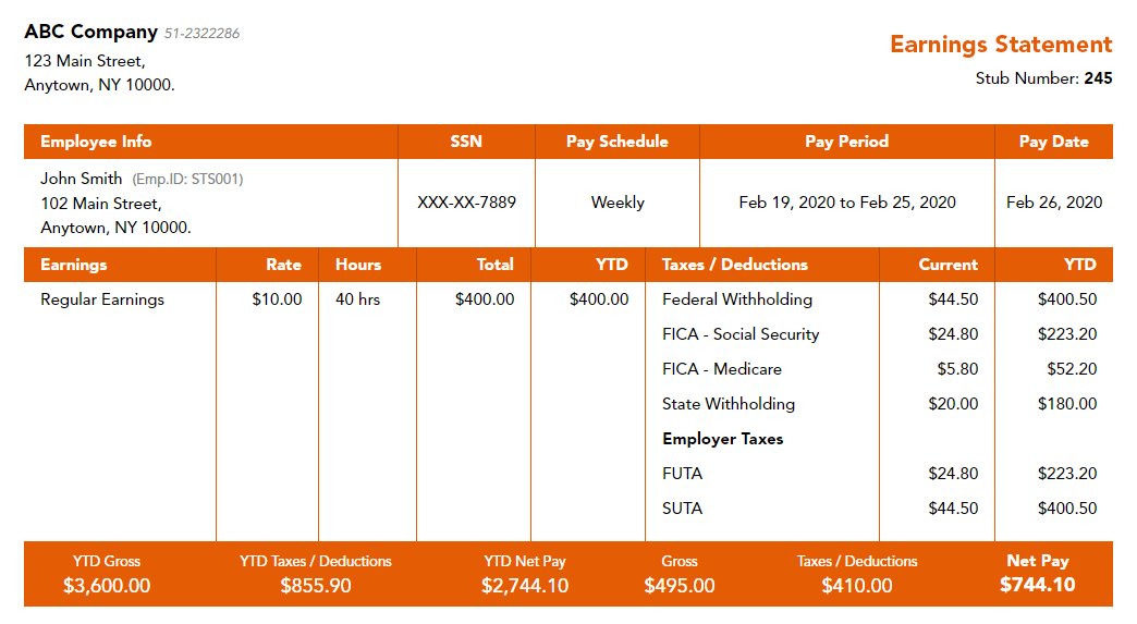 Free-Clemson-paystub-template